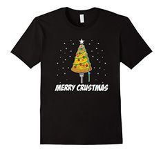 Funny Pizza Christmas Tree Merry Crustmas Shirts Pizza Lover gifts