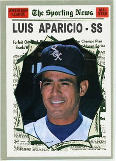 1970 Topps Luis Aparicio All Star, Chicago White Sox. Baseball Cards That Never Were.