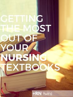 Reading your nursing textbooks word for word, line by line isn't just unnecessary, it's a HUGE time waster! In order to use your textbook… Nursing Textbooks, Nursing Classes, College Nursing, Nursing Books, Nursing School Tips, Nursing Tips, Nursing Students, Student Nurse, Nursing Information