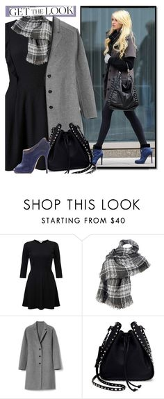 """""""Get the winter look"""" by lisannevicious ❤ liked on Polyvore featuring Miss Selfridge, Wilsons Leather, Gap, Valentino and Jimmy Choo"""