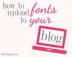 Now that you have found the perfect free font, how are you supposed to use it? Learn how to upload fronts to your blog with this easy video tutorial.