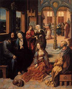 ENGEBRECHTSZ., Cornelis Christ in the House of Martha and Mary c. 1515 Oil on panel, 55 x 44 cm Rijksmuseum, Amsterdam