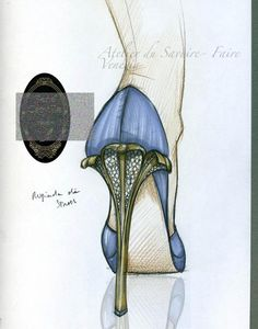 Need to find this in actual shoe, but it is a beautiful sketch.