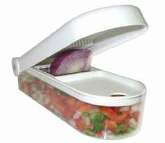 Kitchen Basics® Fruit and Vegetable Chopper / Swift Salad Cutter Wizard / Dice, Slice and Chop Fruits, Onions, Tomatoes, Peppers, C...