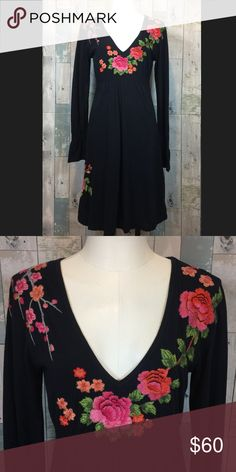 NWOT Johnny Was Embroidered Dress New without tags. Smoke free and pet free home. Johnny Was Dresses Midi