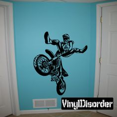 Dirt Bike Motocross Wall Decal - Vinyl Decal - Car Decal - DC 003