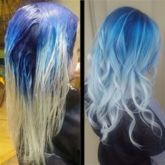 Blonde Hair With Roots, Dyed Blonde Hair, Dye My Hair, Brunette Hair, Ombre Hair, Blonde And Blue Hair, Gray Hair, Hair Dye Colors, Hair Color Blue