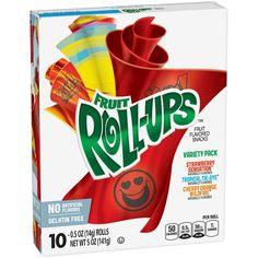 Betty Crocker Fruit Roll-Ups Variety Fruit Flavored Snacks - Betty Crocker, Sour Patch Kids, Jolly Rancher, Hard Candy, Peanut Butter Cups, Pop Tarts, Oreo, Cupcake Cones, Fanta