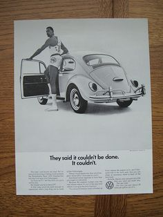 Volkswagen! To funny! I bet he really wanted to fit inside there too:(