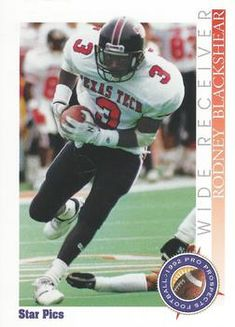 1992 Star Pics #44 Rodney Blackshear Front