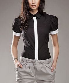 I would love the shirt in other colors than Black & White Contrast Button-Up
