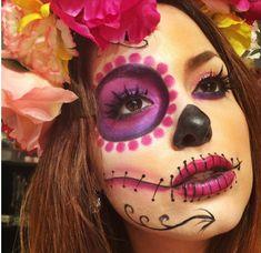 3 Möglichkeiten, um Halloween einzuholen - Make-Up Halloween Makeup Sugar Skull, Cool Halloween Makeup, Sugar Skull Makeup, Halloween Looks, Halloween Costumes, Skeleton Makeup, Halloween Stuff, Maquillage Sugar Skull, Day Of Dead Makeup