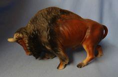 Brahma Bull Figurine Large Ceramic