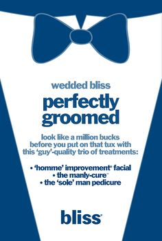perfectly groomed at bliss spa! #wedding #spa #bliss
