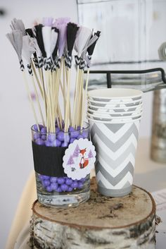 Fun decor at a Girl Fox Birthday Party! See more party ideas at CatchMyParty.com!