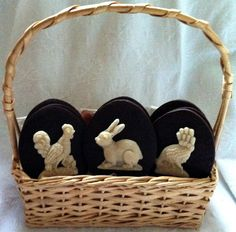 chocolate shortbread / marzipan easter cookies | Flickr - Photo Sharing!