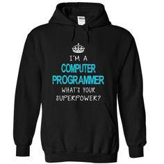 Computer Programmer T Shirts, Hoodies, Sweatshirts. BUY NOW ==► https://www.sunfrog.com/LifeStyle/Computer-Programmer-6975-Black-d410-Hoodie.html?41382