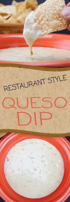Style Queso Dip - Make your favorite Mexican restaurant dip at home. This stuff is SO GOOD! Vorspeisensuppen Restaurant Style Queso Dip - Make your favorite Mexican restaurant dip at home. This stuff is SO GOOD! Appetizer Dips, Appetizers For Party, Appetizer Recipes, Mexican Appetizers, Party Snacks, Mexican Entrees, Tostada Recipes, Mexican Restaurants, Dinner Recipes