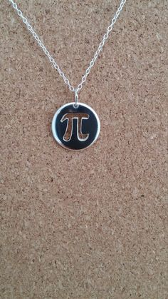 Pi Math Jewelry in Sterling Silver, Pi Math Symbol Necklace, Teachers gift, Math…
