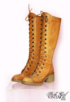 Adding a pair of these gorgeous lace up boots will make your 70s fancy dress outfit super authentic!
