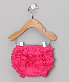 Take a look at this Hot Pink Ruffle Diaper Cover - Infant & Toddler by Tutus by Tutu AND Lulu on #zulily today! $11.99