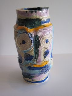 Ruby Neri Head Pot #3, 2013 Ceramic and Glaze 14 X 7 X 7 inches