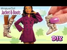 How to Make Barbie Doll Swimsuit and Pareo! My pretty Barbie Doll is al. Barbie Dolls Diy, Diy Barbie Clothes, Barbie Shoes, Barbie Clothes Patterns, New Dolls, Doll Shoes, Diy Doll Boots, Barbie Stuff, Bjd