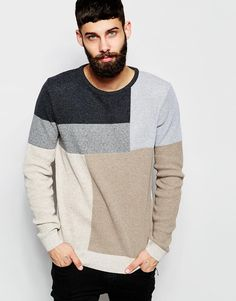Image 1 of River Island Colour Block Knitted Jumper