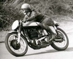 """""""Pat Wise was a pioneering female motorcyclist and was the first woman to finish the Isle of Man TT Races and competed at Brands Hatch, Silverstone and the Thruxton 500 miles endurance race."""""""