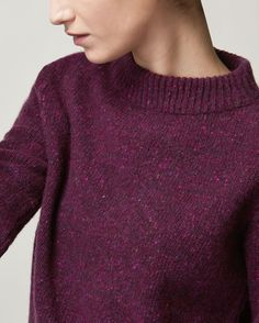 DONEGAL WOOL EVA PULLOVER | Neat-ish pullover in a soft, warm, Donegal-flecked merino wool.