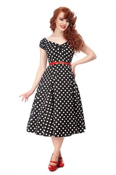 272dd5b73b04 Šaty s puntíky · Collectif Mainline Dolores Doll Dress Polka - Collectif  Mainline from Collectif UK Vintage Outfits