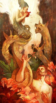 """""""Pomegranate"""" Art Print by Zelda Devon on Society6."""