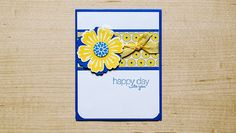 Flower Cards, Stampin Up Cards, Cool Words, Birthday Cards, Birthdays, Happy, Shop, Flowers, How To Make
