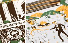 Mike Casebolt - woodland wedding invitation suite