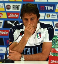 Head coach Italy Antonio Conte speaks with a media during his last press conference at Casa Azzurri on July 03, 2016 in Montpellier, France.