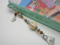 Cat and Mouse Bookmark - Beaded Bookmark at Bead Happy Shop-Gift Boxed