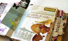My visual journal/handmade book from 2011. ...   Paper ampersand