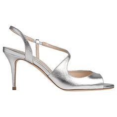 Buy L.K. Bennett Palmita Leather Mid Heel Sandals Online at johnlewis.com