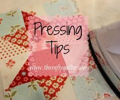 Setting seams and other pressing tips - The Crafty Quilter