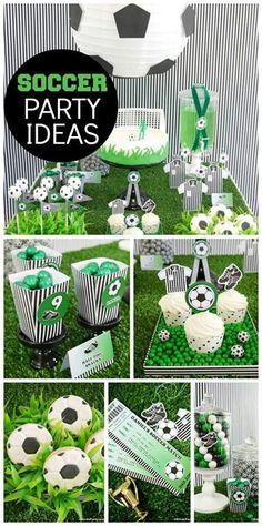 """Soccer/Football/Fútbol / Birthday """"World Cup Inspired Soccer Party"""" Soccer Birthday Parties, Sports Birthday, Soccer Party, Birthday Party Themes, Sports Party, Birthday Ideas, Diy Party Themes, Party Themes For Boys, Ideas Party"""