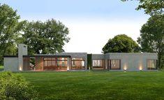 Estudio NF y Asociados House Roof Design, Facade House, Tiny House Design, Modern House Design, Modular Home Designs, House Construction Plan, One Storey House, Modern House Facades, Hillside House