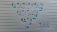 Diagram graniet steek.  Blauwe zijn 2 lossen!