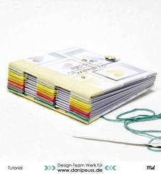 Minialbum mit Knopflochbindung | eine DIY Anleitung von Mel für www.danipeuss.de