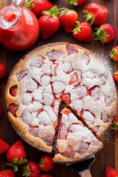 Easy Strawberry Cake recipe loaded with strawberries. So soft, lightly sweet, moist and bursting with strawberry flavor. Must-try easy strawberry syrup!