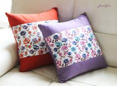 sewing flower cushion cover