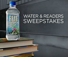 Your entire summer reading list could be FREE with the  FIJI Water & Readers Sweepstakes; sign up and print a coupon for a FREE bottle of Fiji water in-store.