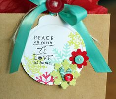 Reuse old Christmas cards as gift tags!