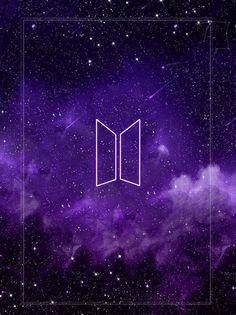Wallpaper BTS LOGO Galaxy