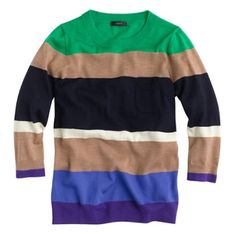 Jcrew Tippi Sweater in Colorblock Stripe Worn once mint condition J. Crew Sweaters