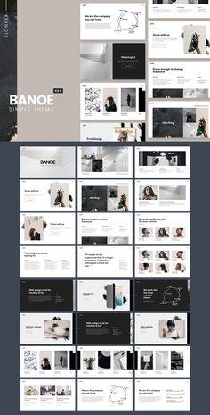 BANOE – Keynote Presentation Template – Modern Home Office Design Best Presentation Templates, Presentation Board Design, Marketing Presentation, Presentation Slides, Keynote Design, Page Layout Design, Slide Design, Photoshop, Keynote Template